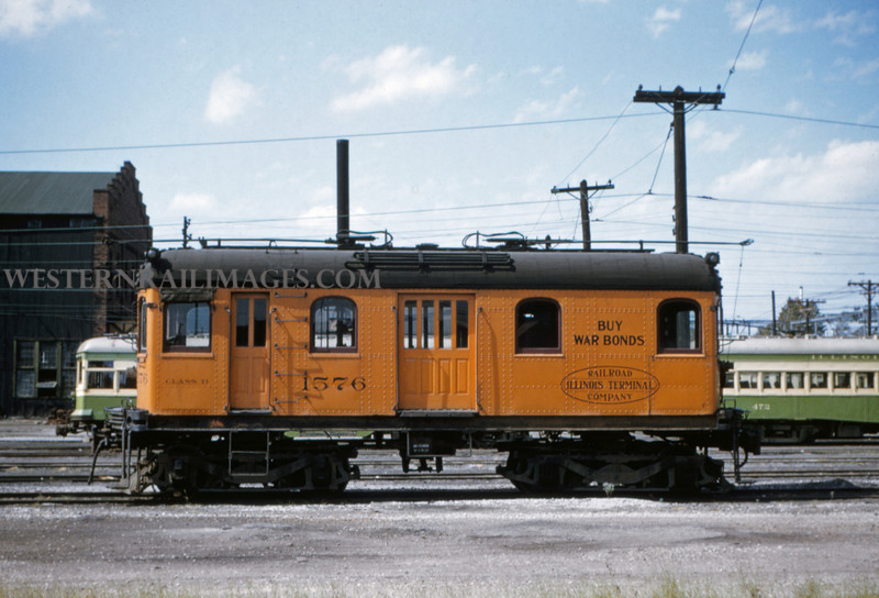ITS 5 - Sep 19 1954 - trolley switcher 1576 - Granite City ILL