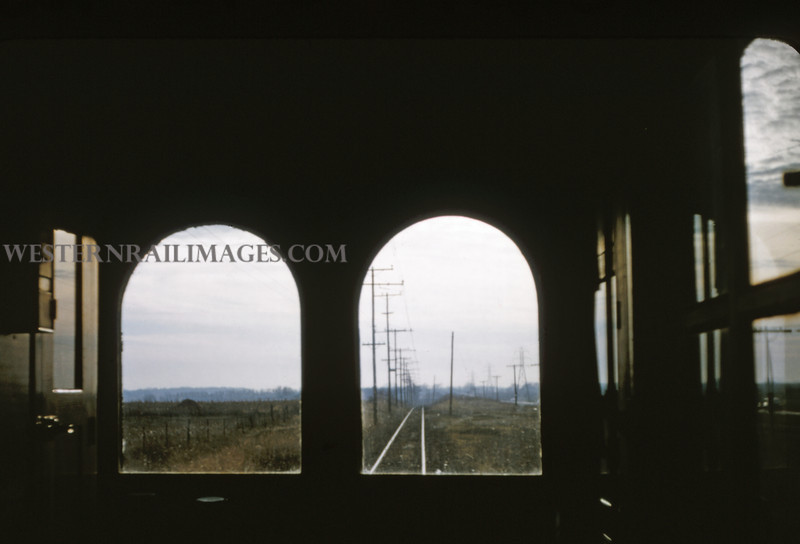 ITS 61 - Jan 2 1955 - scene out front window of car 203 from Champaign to Decatur ILL