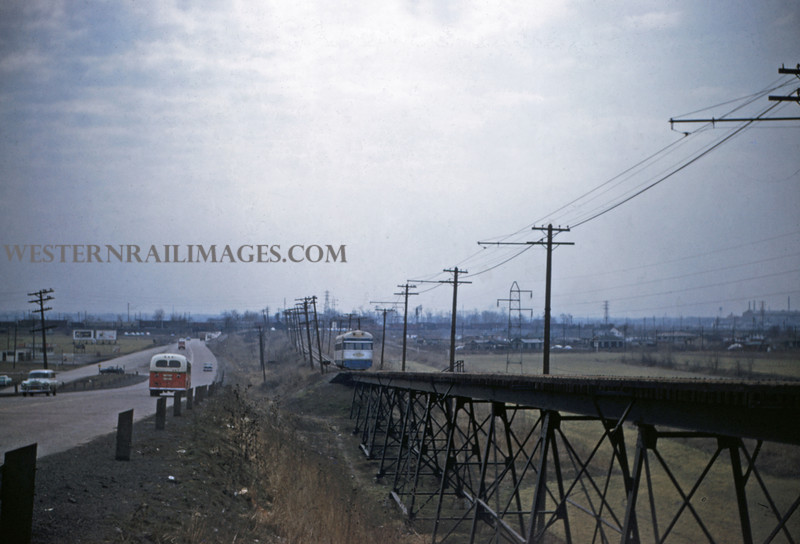 ITS 118 - Feb 22 1956 - Car 301 nb north of Lang ILL