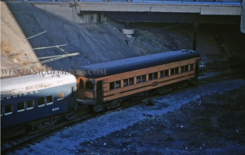 ITS 131 - Mar 3 1956 - trailers 530 & 531 on Illini RR Club Special St Louis MO