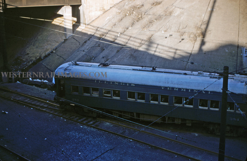 ITS 132 - Mar 3 1956 - car 284 on Illini RR club special 12th st terminal St Louis MO