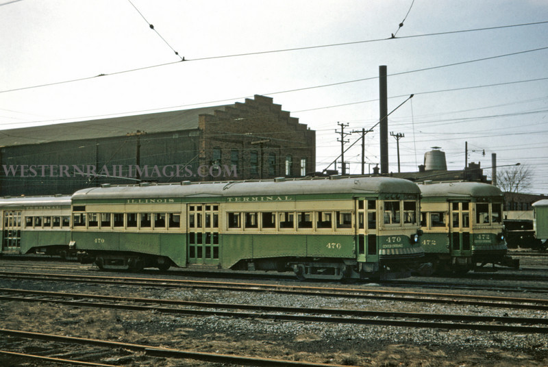 ITS 204 - Feb 30 1957 - Car 470 & 472 in yards @ Granite City ILL