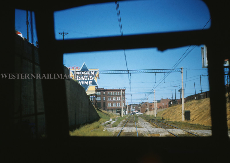 ITS 91 - Sep 11 1955 - looking out PCC window subway entrance St Louis MO