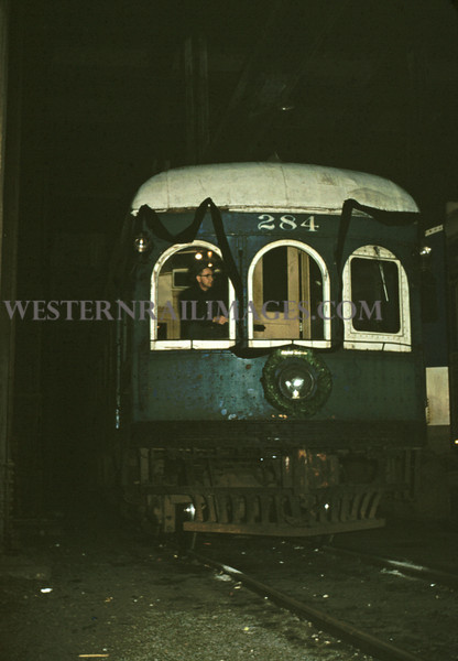 ITS 135 - Mar 3 1956 - Car 284 on Illini RR Club farewell run 710 N 12th St St Louis MO
