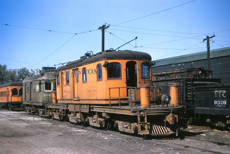 ITS 65 - Aug 23 1955 - Trolley freight motor 1587 at Granite City ILL