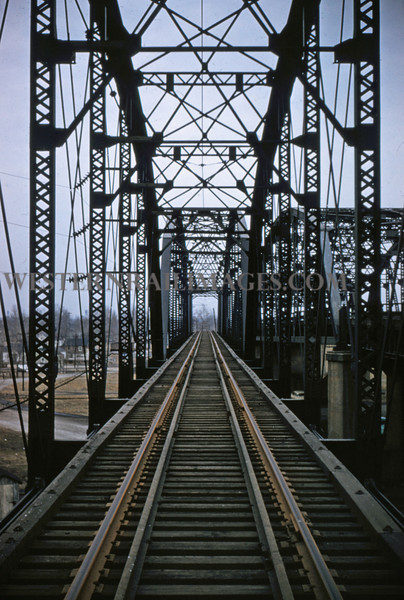 ITS 122 - Feb 22 1956 - looking north on bridge at Lang ILL