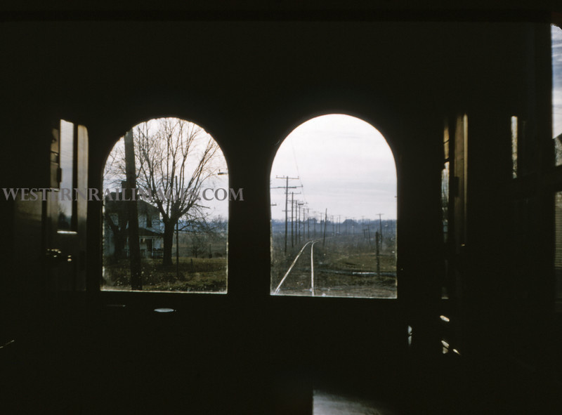 ITS 62 - Jan 2 1955 - scene out front window of car 203 from Champaign to Decatur ILL