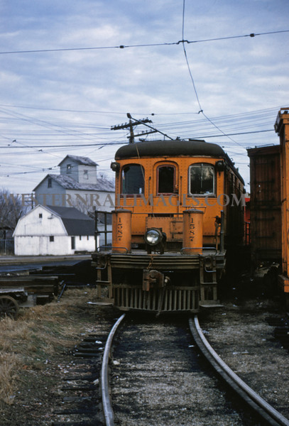 ITS 56 - Jan 2 1955 - freight motor 1587 at Champaign ILL