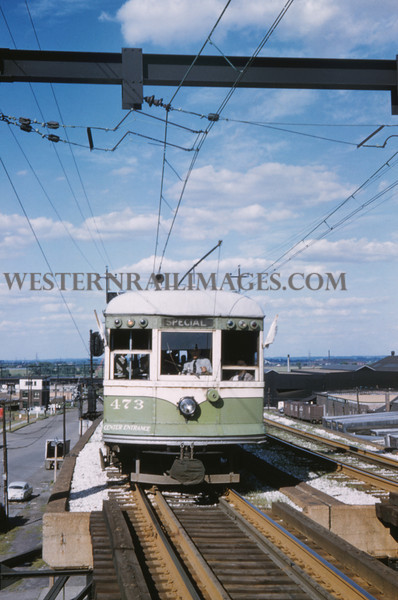 ITS 233 - Jun 21 1958 - last day of operation Car 473 broadway overpass St Louis MO