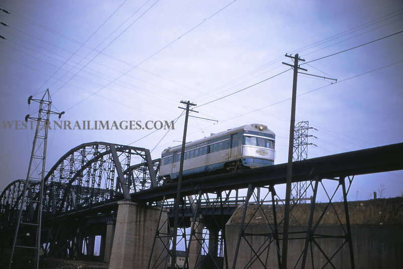 ITS 128 - Feb 22 1956 - Car 302 S B  on bridge  25 miles north of Lang ILL