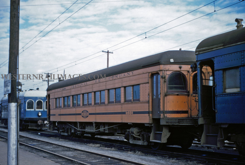 ITS 38 - Jan 2 1955 - trailer 531 with old traction orange paint Springfield ILL