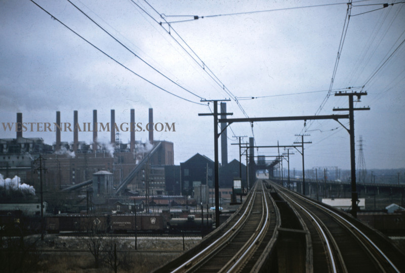 ITS 114 - Feb 19 1956 - high line approaching McKinley Bridge St Louis MO