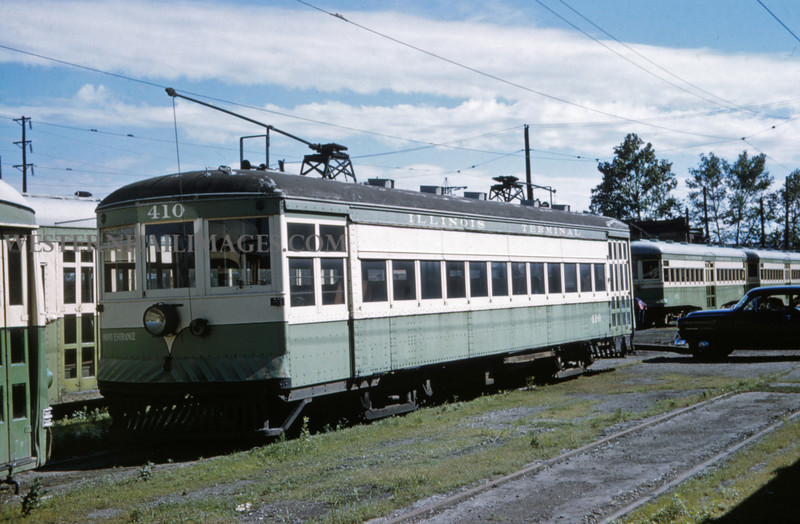 ITS 225 - Jun 21 1958 - Car 410 at 17th & Madison Yard - Granite City ILL