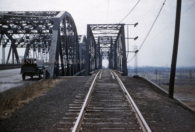 ITS 117 - Feb 22 1956 - looking south on bridge Lang ILL