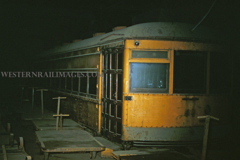 ITS 28 - Oct 24 1954 - body of car 414 in warehouse - St Louis MO