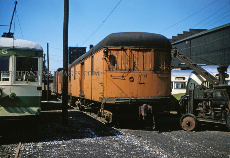 ITS 79 - Aug 23 1955 - express trailer 604 in yards @ Granite City ILL