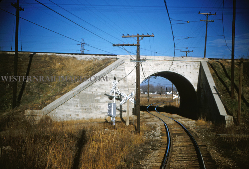 ITS 32 - Jan 2 1955 - underpass for interurban Wabash above near Carlinville ILL