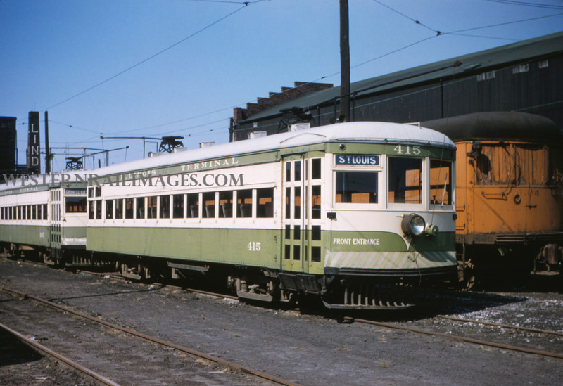 ITS 77 - Aug 23 1955 - Granite City local car 415 in yards ILL