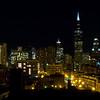 Chicago nightime skyline