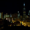 Chicago nightime skyline