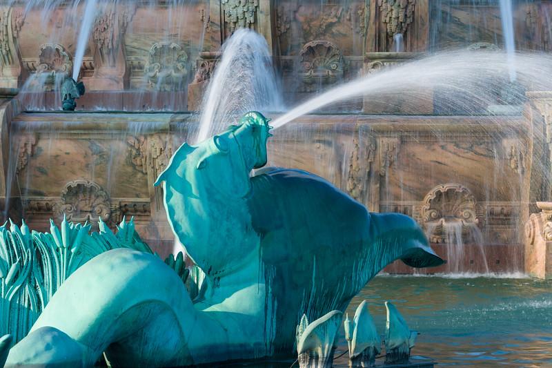Buckingham Fountain Seahorse