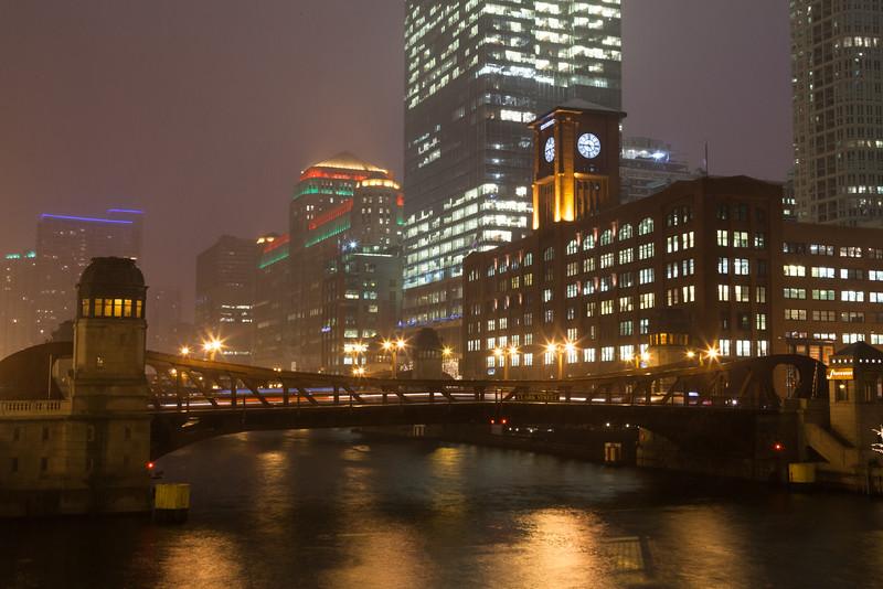 Clark Street Bridge in Winter