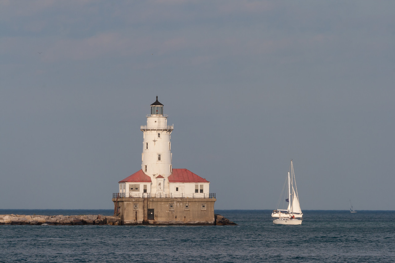 A warm summer afternoon on the Lake Michigan. Chicago, IL<br /> <br /> IL-080713-0167