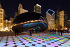 Millineum Park has been transformed into an artist canvas with the addition of music and lights that dazzle and entertain the park goers. Chicago, IL<br /> <br /> IL-120212-00191