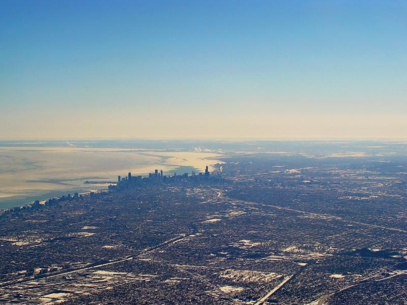 Chicago on Lake Michigan in Winter