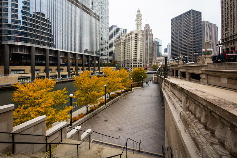 Chicago Riverwalk Fall Color