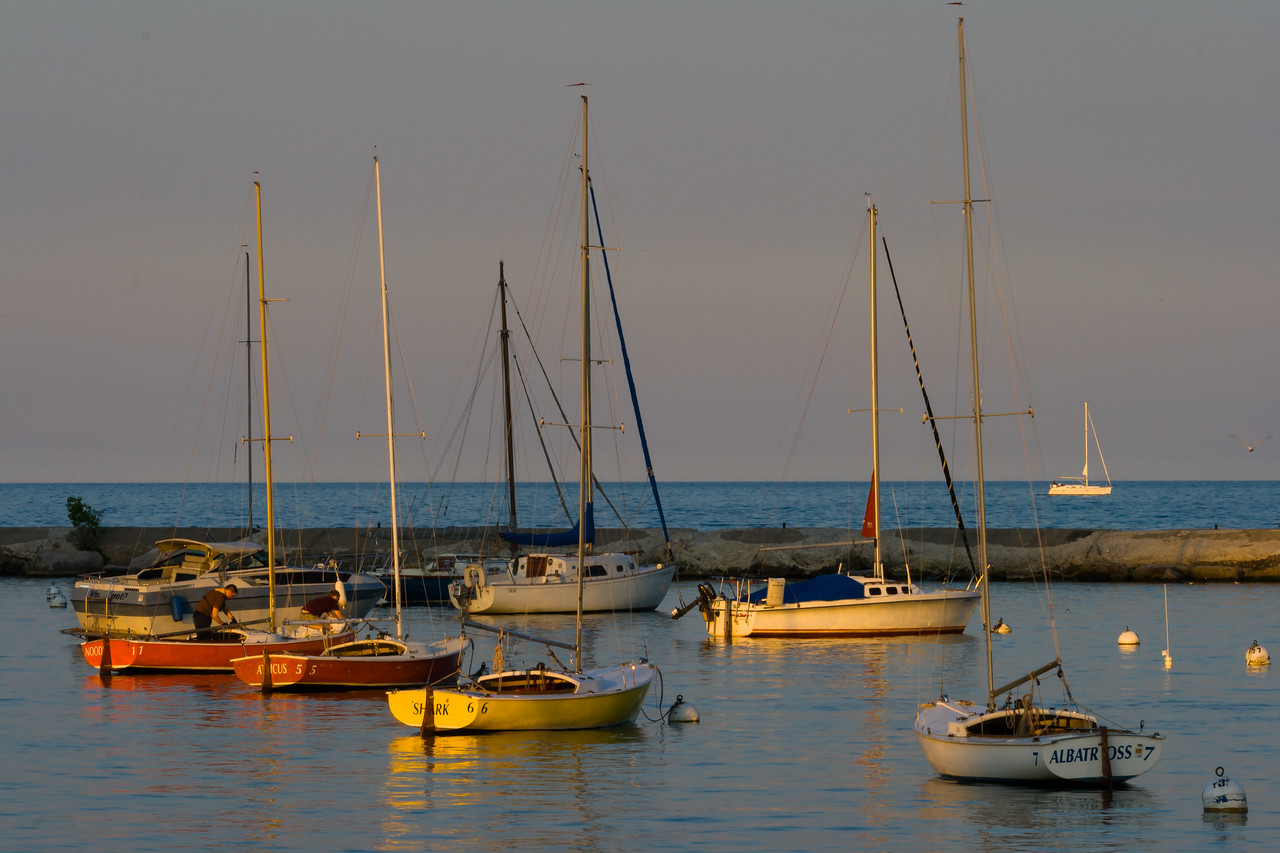 Sunset at Burnham Harbor