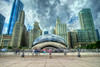 The infamous Cloud Gate, also known as The Bean, in Chicago, IL on Monday, August 10, 2015. Copyright 2015 Jason Barnette