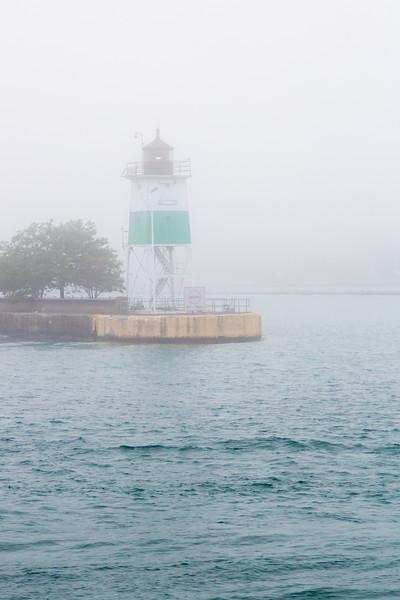 Breakwater Light in Fog
