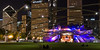 The Pritzker Pavilion lawn is an inviting place to enjoy a warm summer's night watching a performance, admiring the city skyline or just relaxing wtih friends. Chicago, IL<br /> <br /> IL-080601-0413
