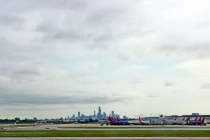 Downtown Chicago from Midway Airport