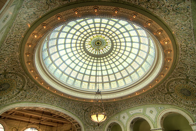 Beautiful interior decor at the Chicago Cultural Center in Chicago, IL on Monday, August 10, 2015. Copyright 2015 Jason Barnette