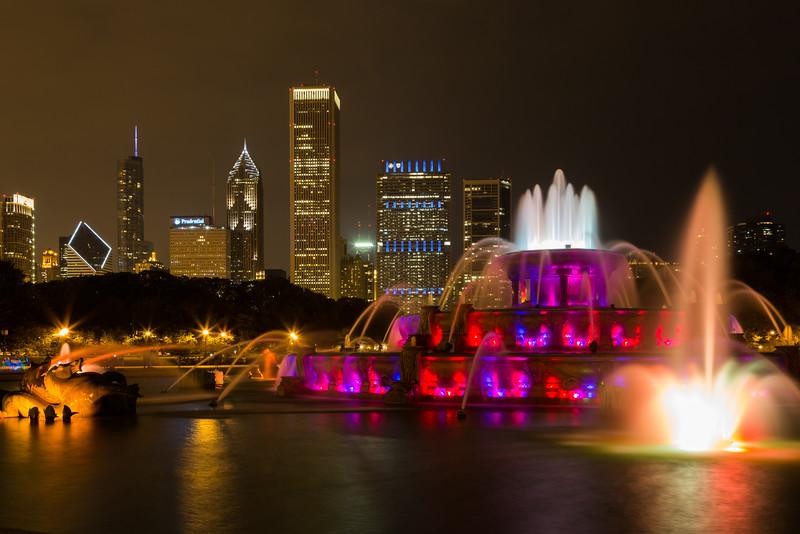 Buckingham and Chicago Skyline