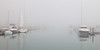 Heavy fogs obscures the view of the entrance of Burnham Park Harbor. Chicago, IL<br /> <br /> IL-110519-0014
