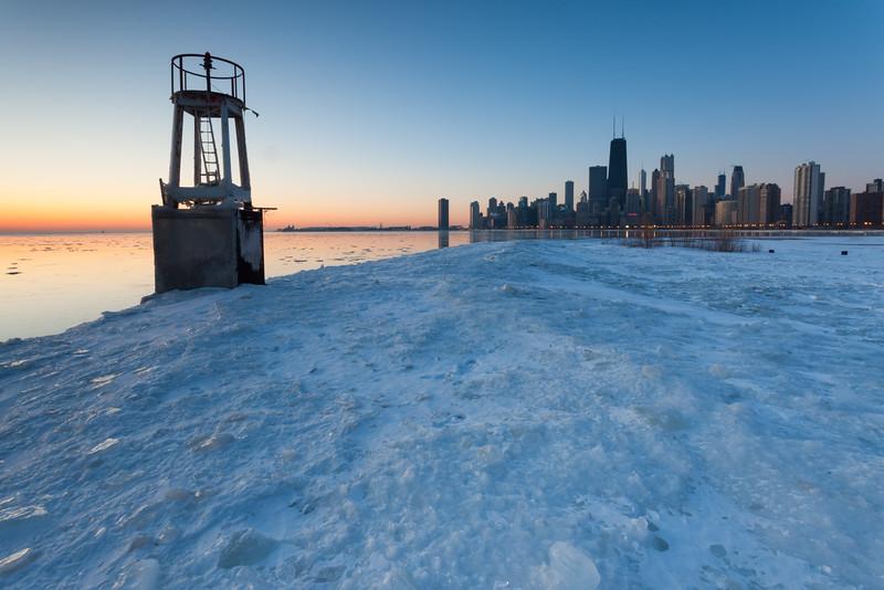 North Avenue Beach Winter Sunrise