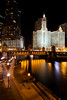 A mild winter night along the Chicago River. Chicago, IL<br /> <br /> IL-120128-0019