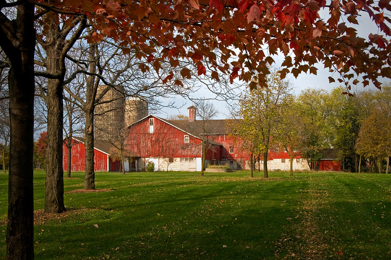 GV 005<br /> <br /> The historic 1841 barn at Greene Valley Forest Preserve, DuPage County, Illinois.