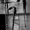 KC 002<br /> <br /> Hand tools hanging in the woodworking shop at Kline Creek Farm Forest Preserve, DuPage County, Illinois.