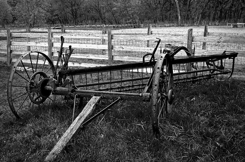 KC 014<br /> <br /> 1890's farm implement.  Kline Creek Farm Forest Preserve, DuPage County, Illinois.