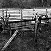 KC 014<br /> <br /> 1890's farm implement.  Kline Creek Farm Forest Preserve, DuPage County, Illinois.