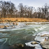 McDGrv 003<br /> <br /> Winter on the West Branch DuPage River.  McDowell Grove Forest Preserve, DuPage County, Illinois.