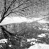 OFO 003<br /> <br /> A small stream flows through a snowy winter landscape at Oldfield Oaks Forest Preserve, DuPage County, Illinois.
