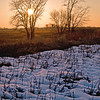 SBP 091<br /> <br /> A winter sunset at Springbrook Prairie Nature Preserve, DuPage County, Illinois.