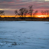 SBP 209<br /> <br /> A winter sunset  over Crooked Slough.  Springbrook Prairie Nature Preserve, DuPage County, Illinois.