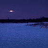 SBP 199<br /> <br /> A blue moon rises over a frozen marsh at Springbrook Prairie Nature Preserve, DuPage County, Illinois.