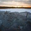 SBP 144<br /> <br /> A winter sunset over a frozen wetland marsh at Springbrook Prairie Nature Preserve, DuPage County, Illinois.